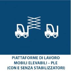 Piattaforme di Lavoro mobili elevabili – PLE (con e senza stabilizzatori)